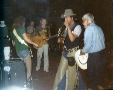 Jimmy Buffett, Jerry Jeff Walker on stage
